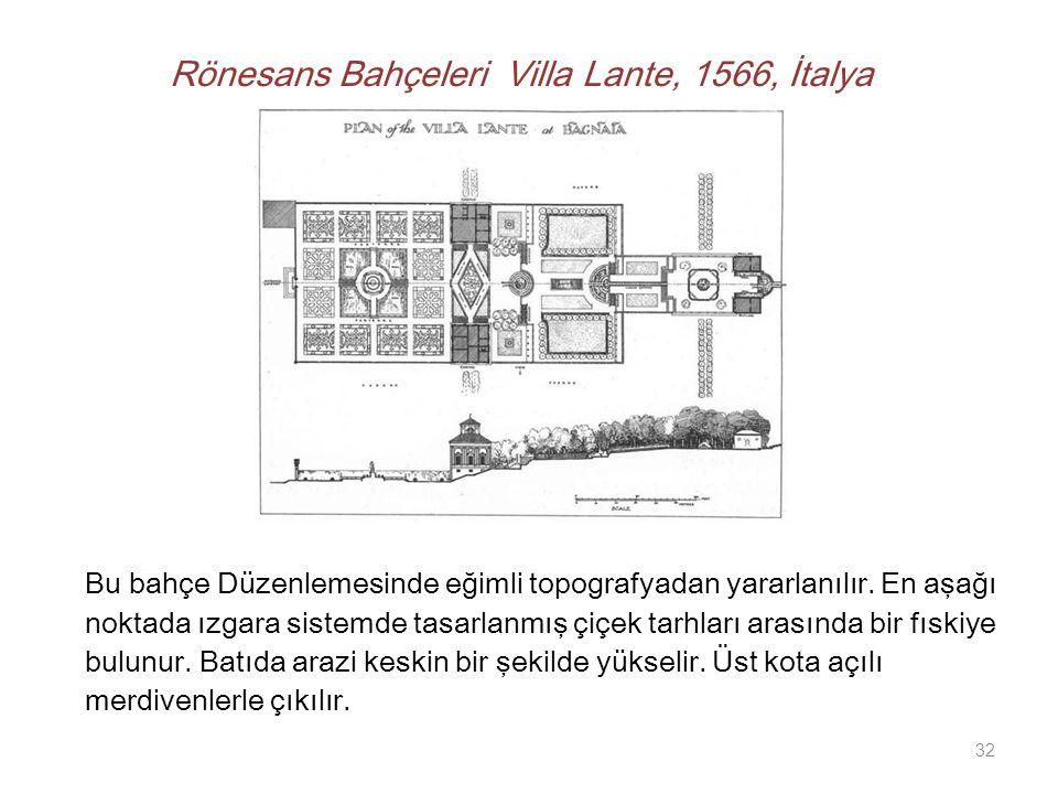 Rönesans Bahçeleri Villa Lante, 1566, İtalya