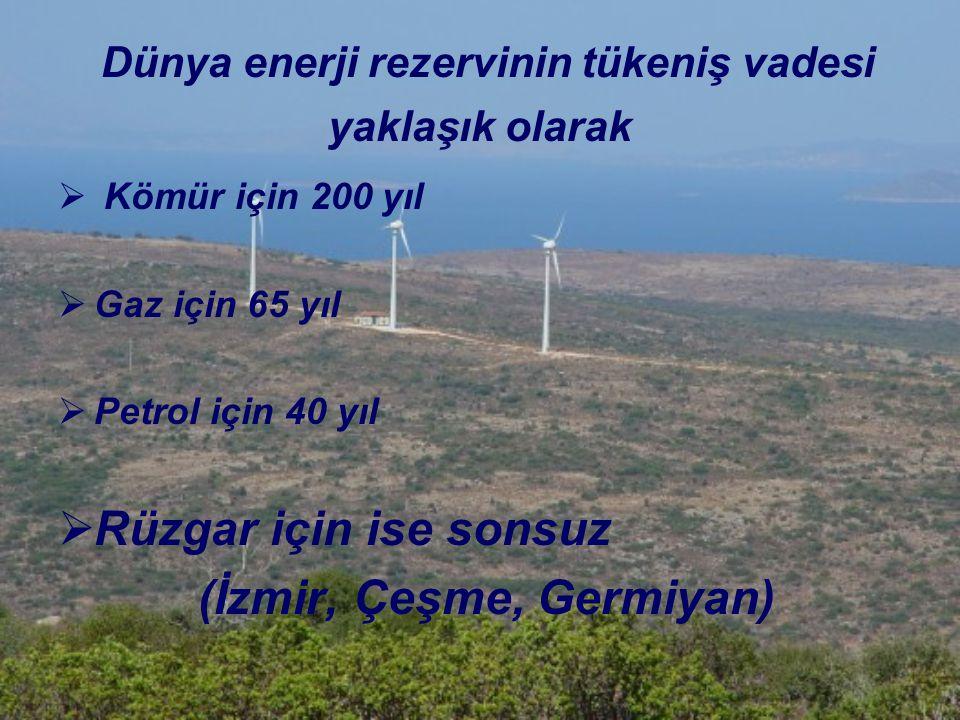 Dünya enerji rezervinin tükeniş vadesi yaklaşık olarak