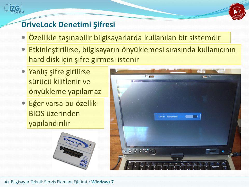 DriveLock Denetimi Şifresi