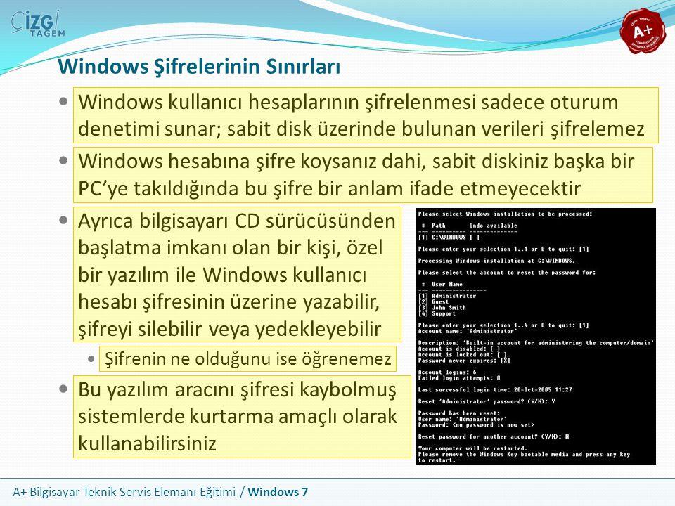 Windows Şifrelerinin Sınırları
