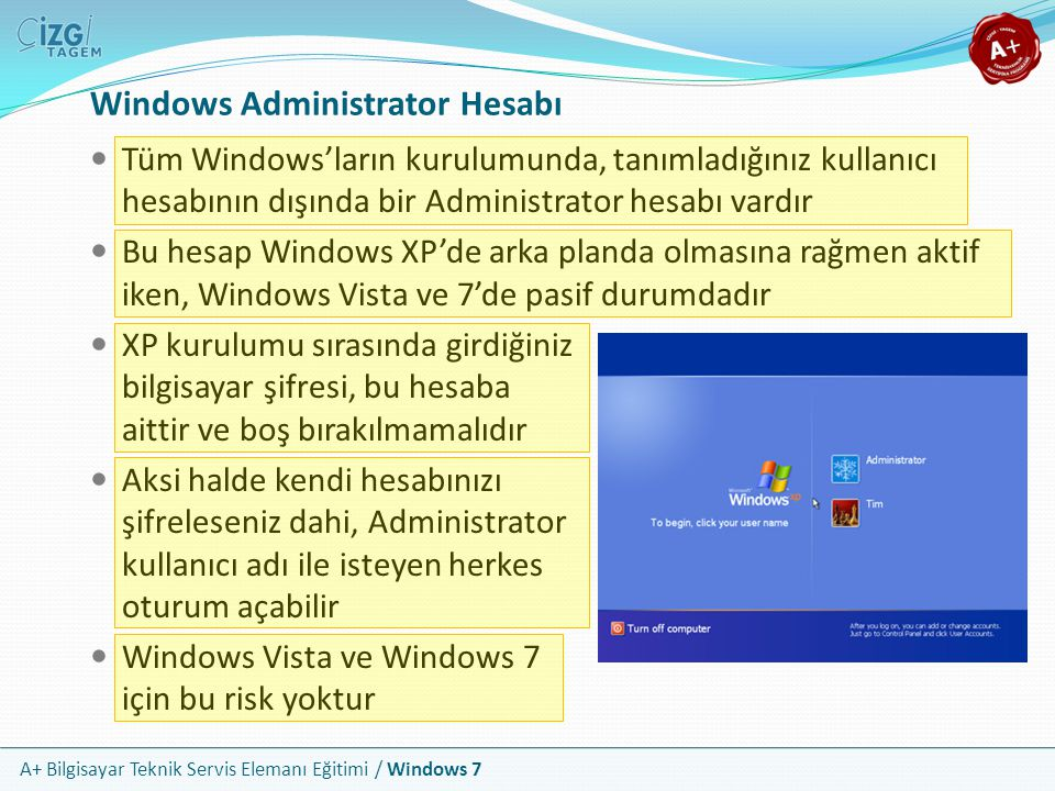 Windows Administrator Hesabı