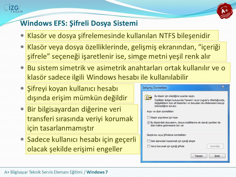 Windows EFS: Şifreli Dosya Sistemi