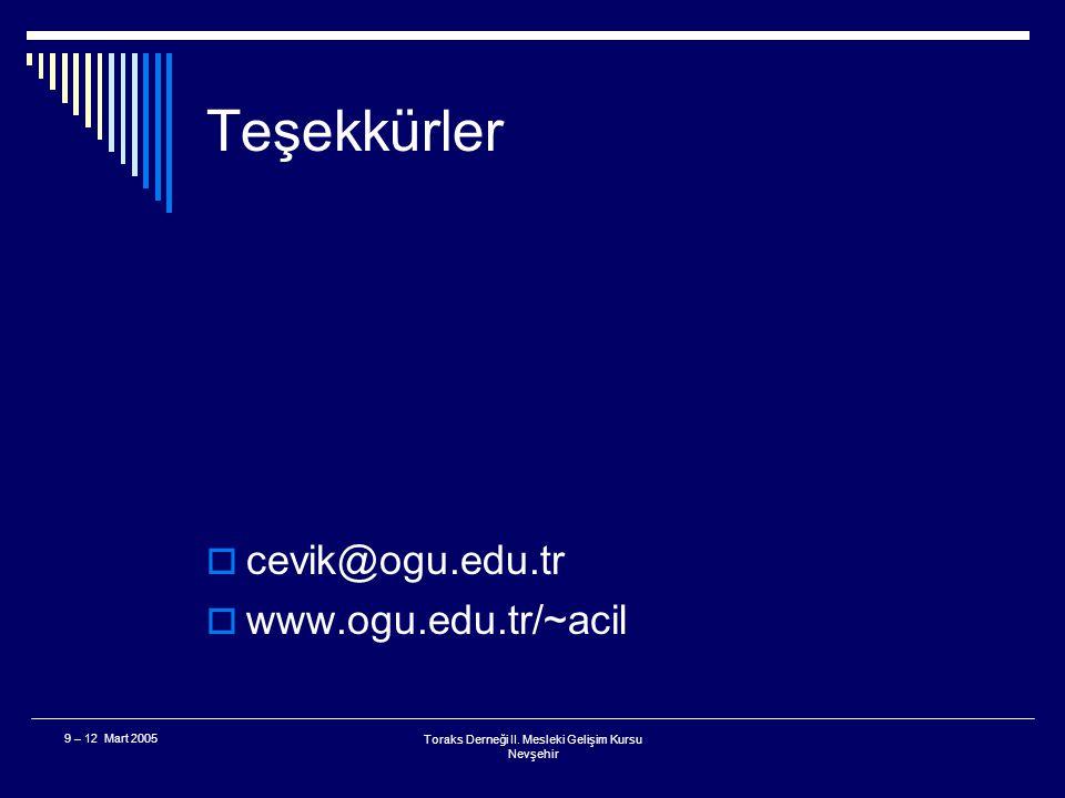 Toraks Derneği II. Mesleki Gelişim Kursu