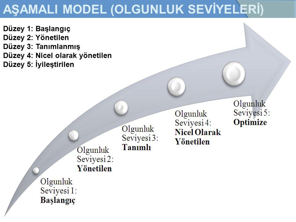 AŞAMALI MODEL (OLGUNLUK SEVİYELERİ)