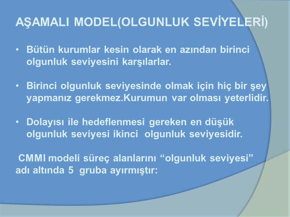 AŞAMALI MODEL(OLGUNLUK SEVİYELERİ)