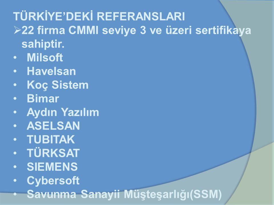 TÜRKİYE'DEKİ REFERANSLARI