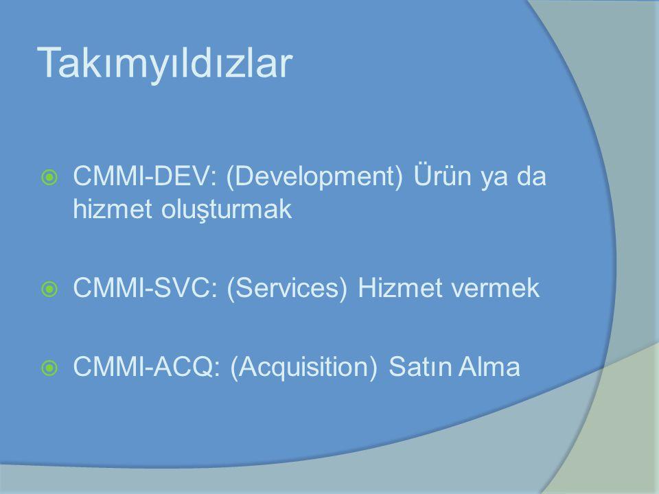 Takımyıldızlar CMMI-DEV: (Development) Ürün ya da hizmet oluşturmak
