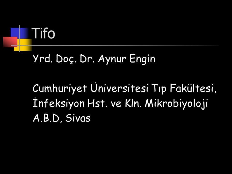 Tifo Yrd. Doç. Dr. Aynur Engin Cumhuriyet Üniversitesi Tıp Fakültesi,