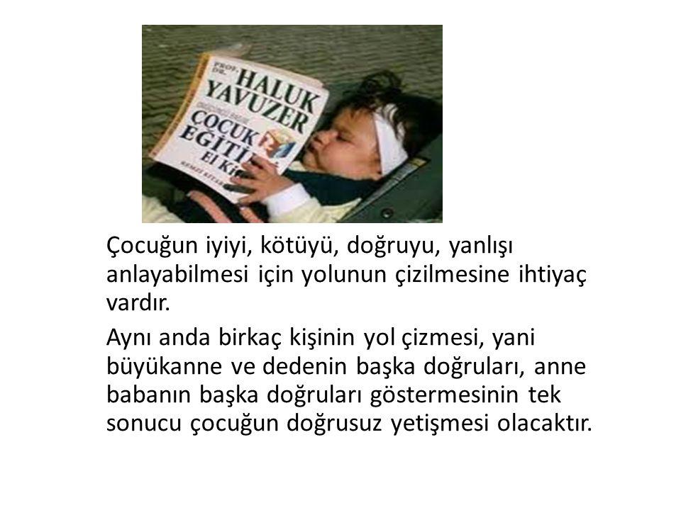 Çocuğun iyiyi, kötüyü, doğruyu, yanlışı anlayabilmesi için yolunun çizilmesine ihtiyaç vardır.