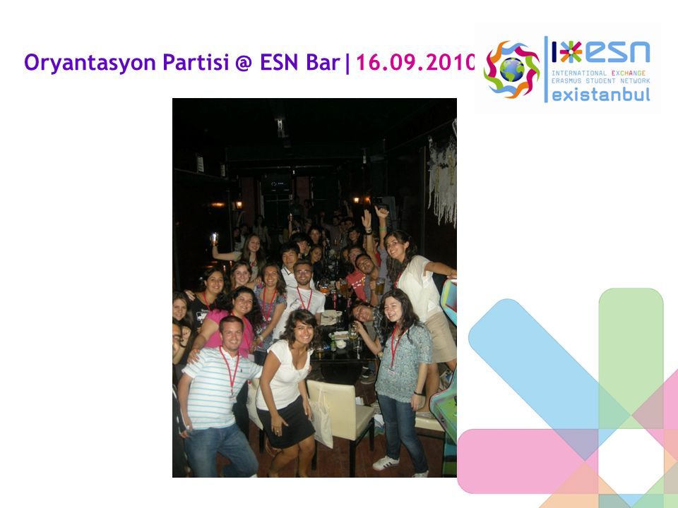 Oryantasyon Partisi @ ESN Bar|16.09.2010