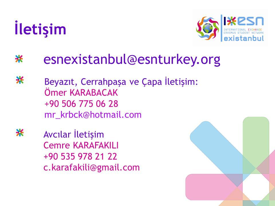 İletişim esnexistanbul@esnturkey.org