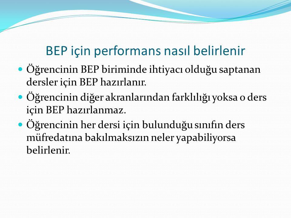 BEP için performans nasıl belirlenir