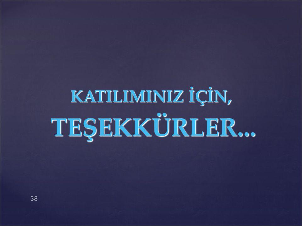 KATILIMINIZ İÇİN, TEŞEKKÜRLER...