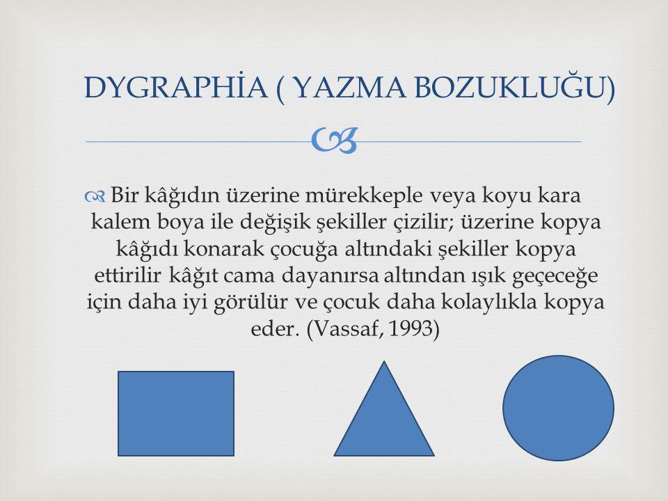 DYGRAPHİA ( YAZMA BOZUKLUĞU)