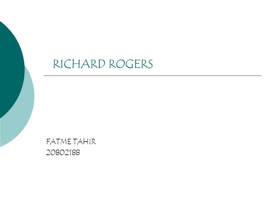 RICHARD ROGERS FATME TAHIR 20802188