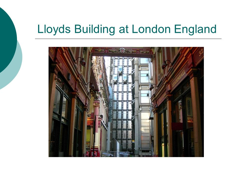 Lloyds Building at London England