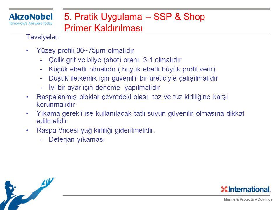 5. Pratik Uygulama – SSP & Shop Primer Kaldırılması