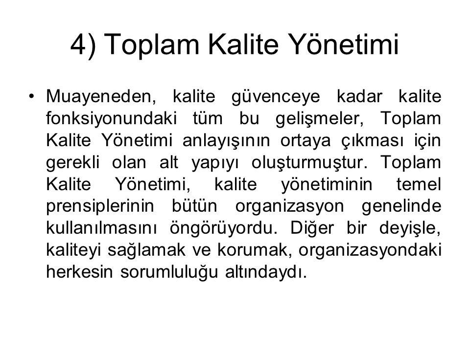 4) Toplam Kalite Yönetimi