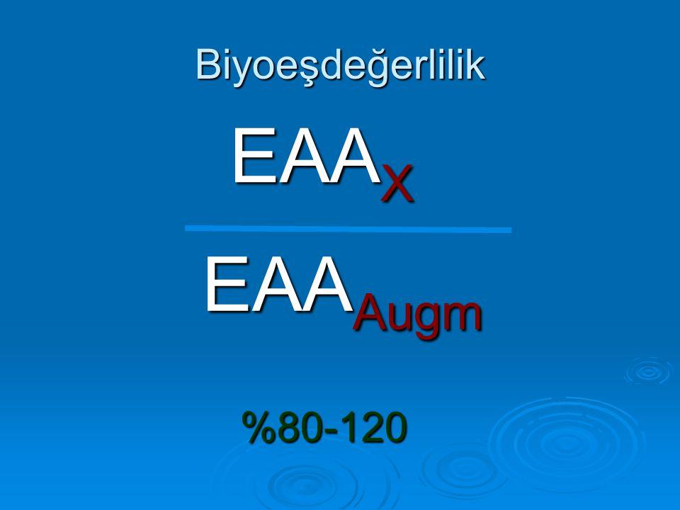 Biyoeşdeğerlilik EAAX EAAAugm %80-120