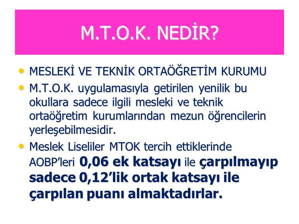 M.T.O.K. NEDİR MESLEKİ VE TEKNİK ORTAÖĞRETİM KURUMU