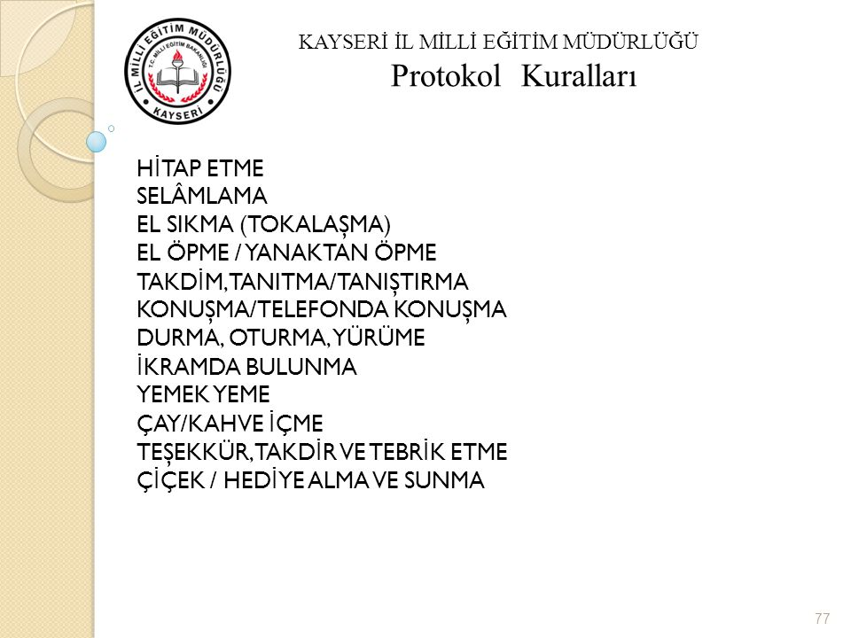 KAMUSAL YAŞAMDA SOSYAL DAVRANIŞ KURALLARI