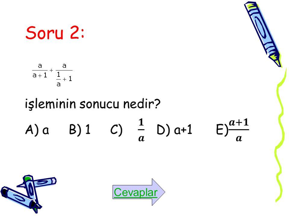 Soru 2: Cevaplar