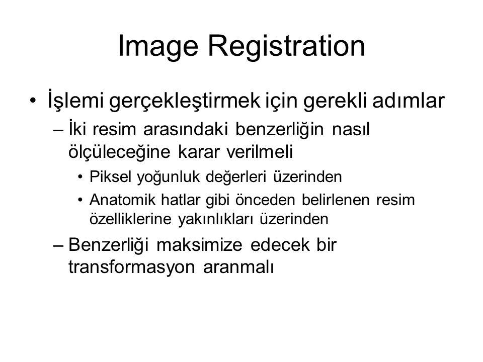 Image Registration İşlemi gerçekleştirmek için gerekli adımlar