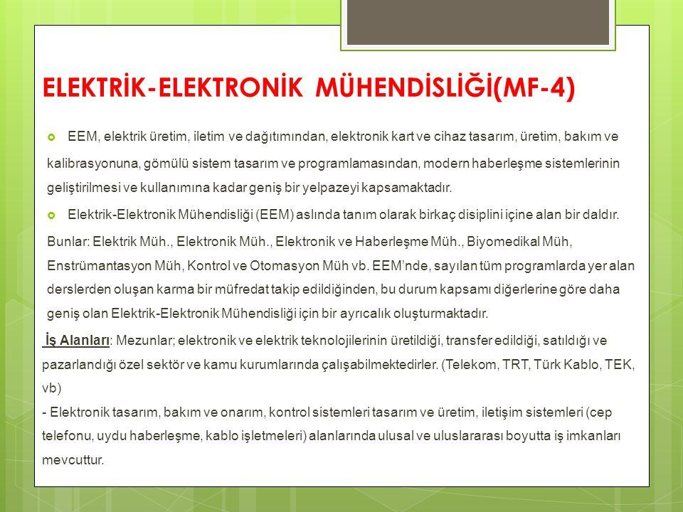 ELEKTRİK-ELEKTRONİK MÜHENDİSLİĞİ(MF-4)