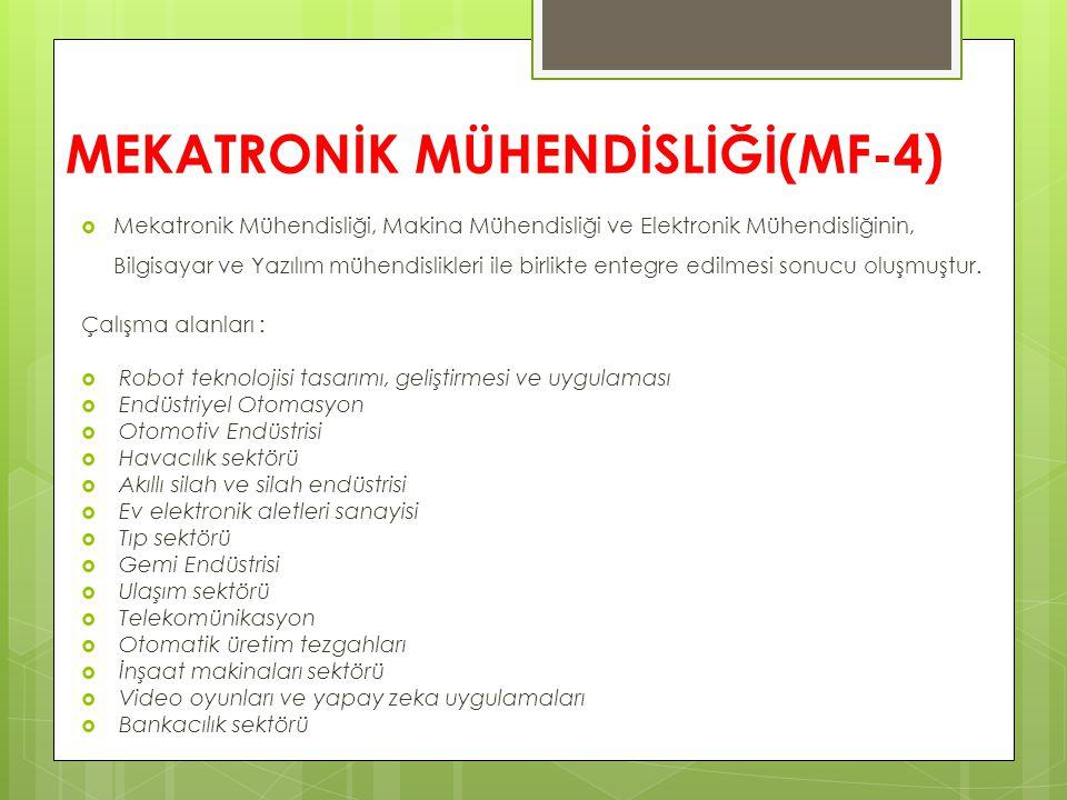 MEKATRONİK MÜHENDİSLİĞİ(MF-4)
