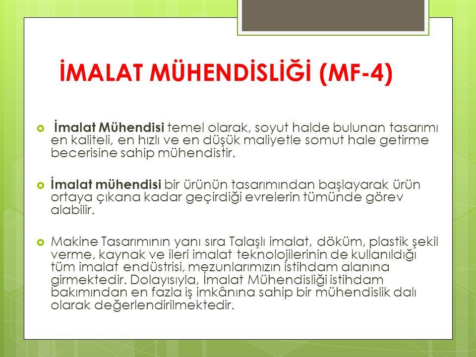 İMALAT MÜHENDİSLİĞİ (MF-4)
