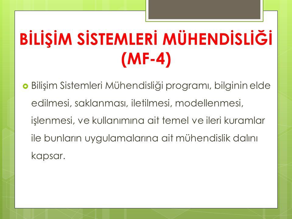 BİLİŞİM SİSTEMLERİ MÜHENDİSLİĞİ (MF-4)
