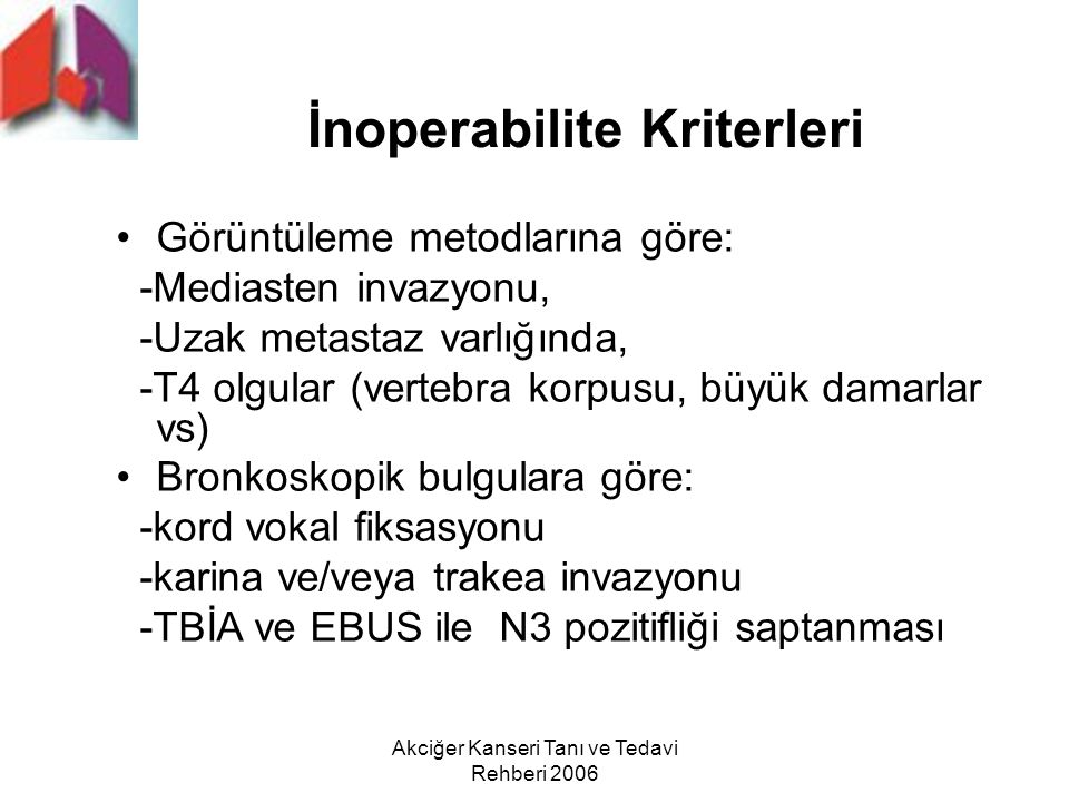 İnoperabilite Kriterleri