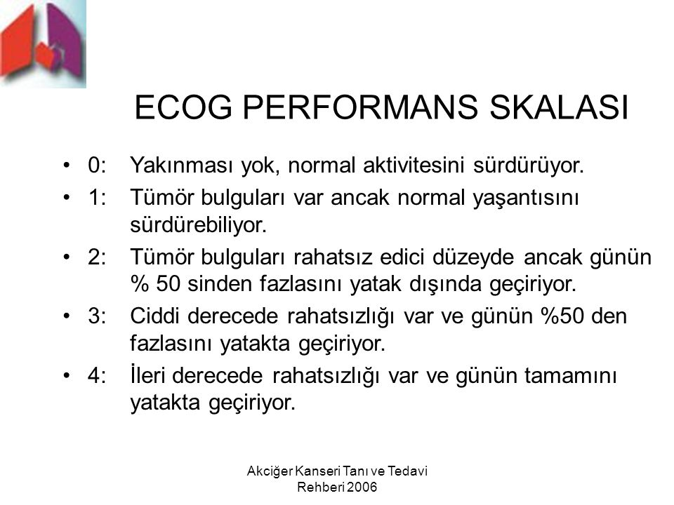 ECOG PERFORMANS SKALASI