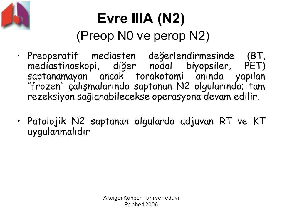 Evre IIIA (N2) (Preop N0 ve perop N2)
