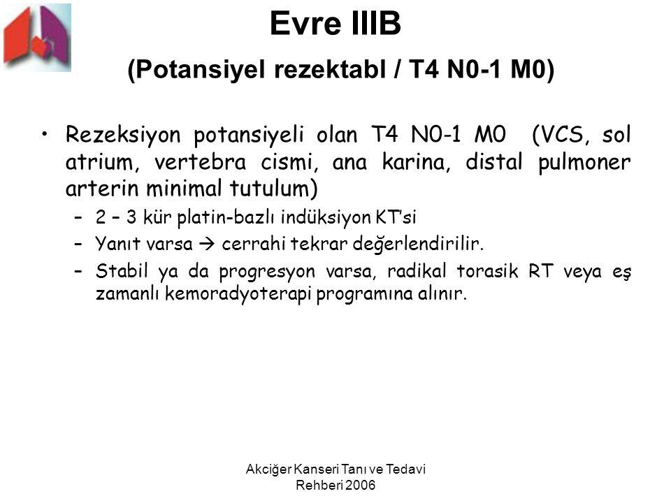 Evre IIIB (Potansiyel rezektabl / T4 N0-1 M0)