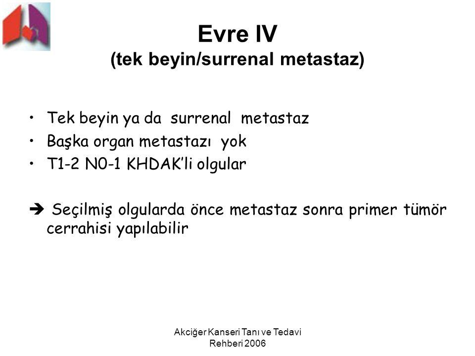 Evre lV (tek beyin/surrenal metastaz)