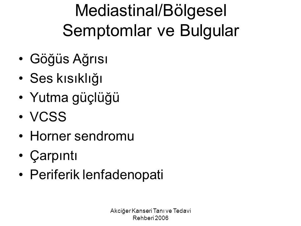 Mediastinal/Bölgesel Semptomlar ve Bulgular
