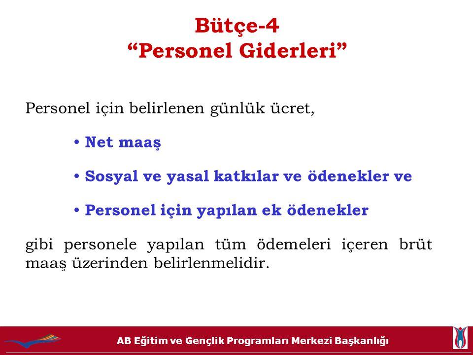 Bütçe-4 Personel Giderleri