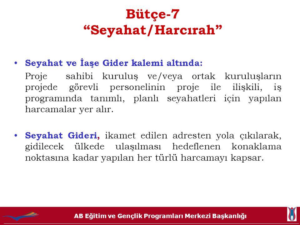 Bütçe-7 Seyahat/Harcırah