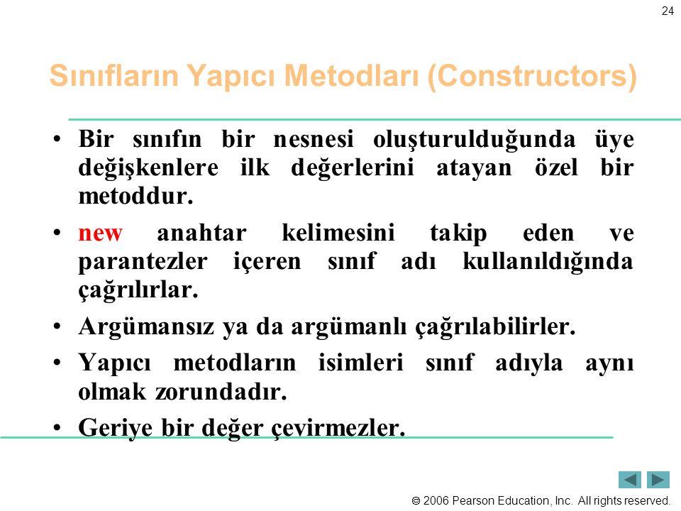 Sınıfların Yapıcı Metodları (Constructors)