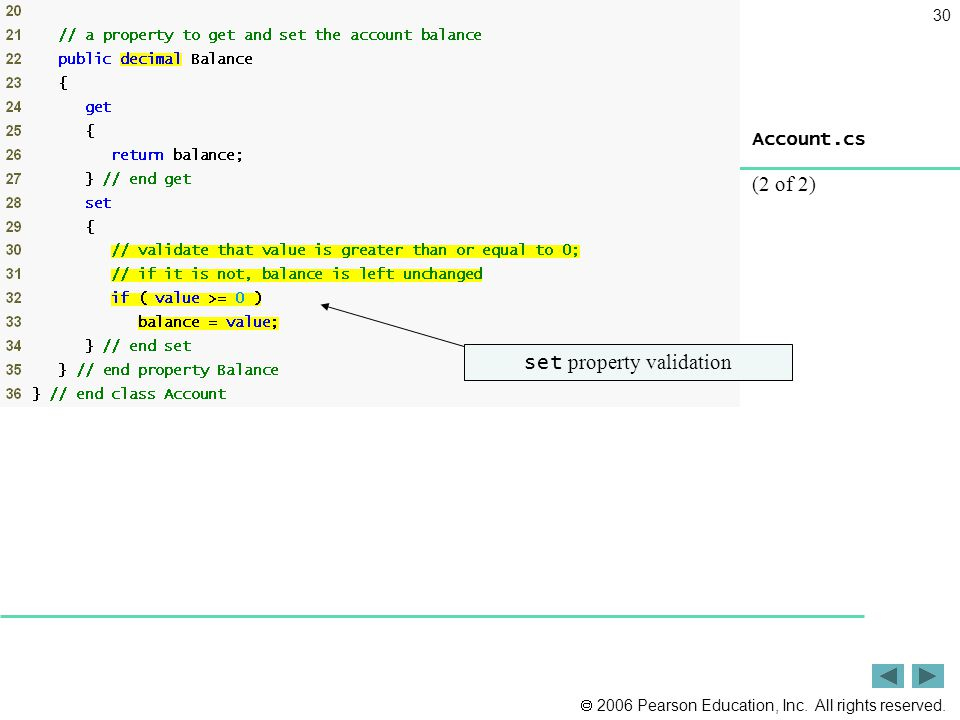 set property validation