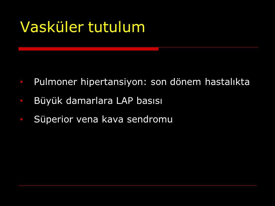 Vasküler tutulum Pulmoner hipertansiyon: son dönem hastalıkta