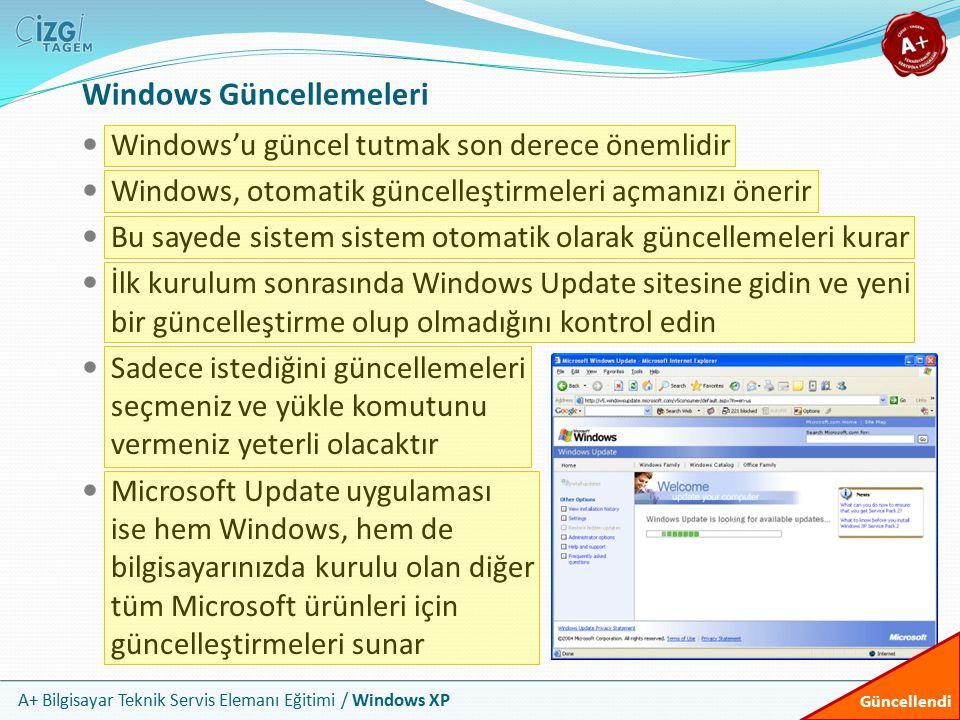 Windows Güncellemeleri