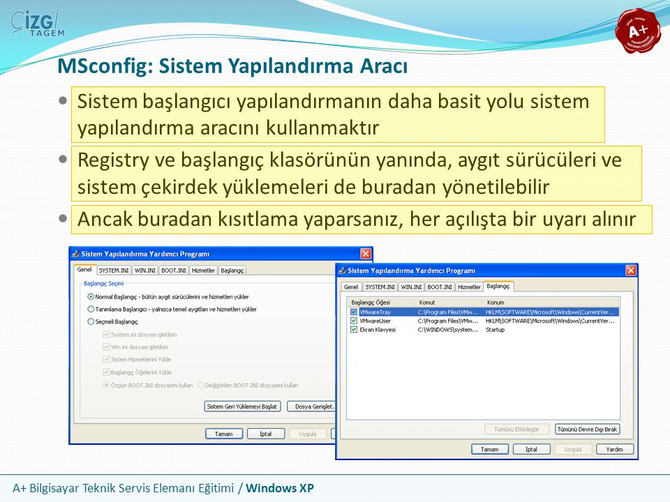 MSconfig: Sistem Yapılandırma Aracı