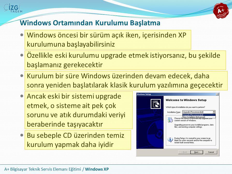 Windows Ortamından Kurulumu Başlatma