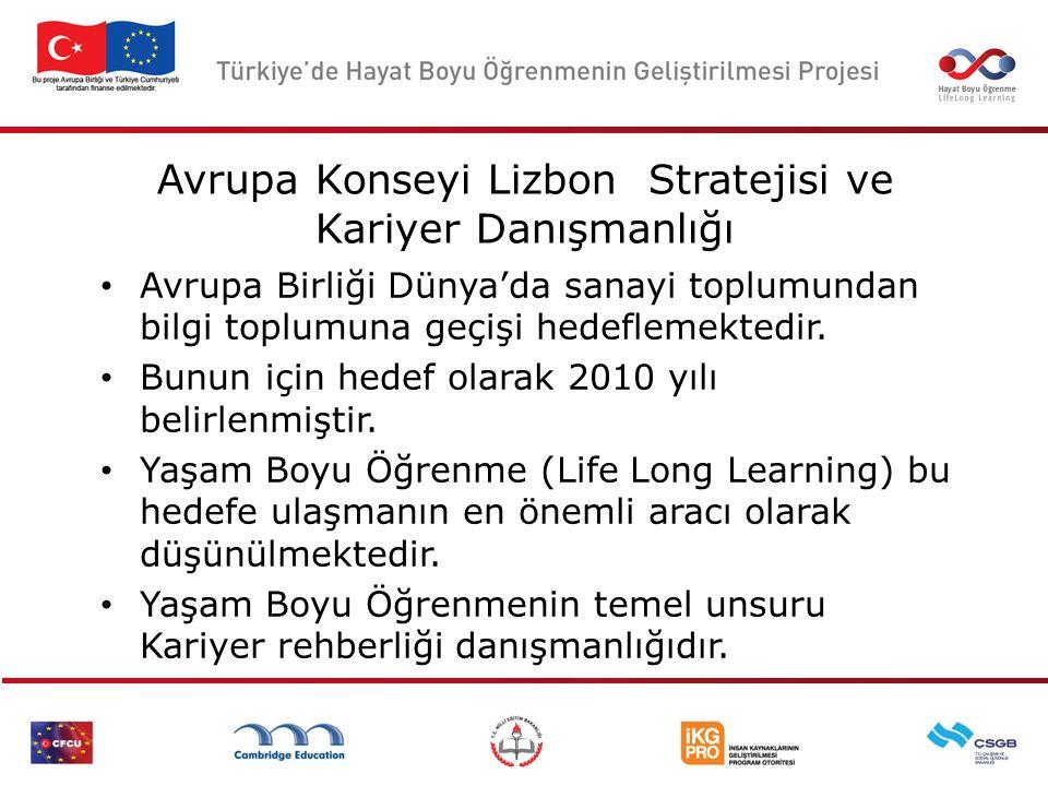 Avrupa Konseyi Lizbon Stratejisi ve Kariyer Danışmanlığı