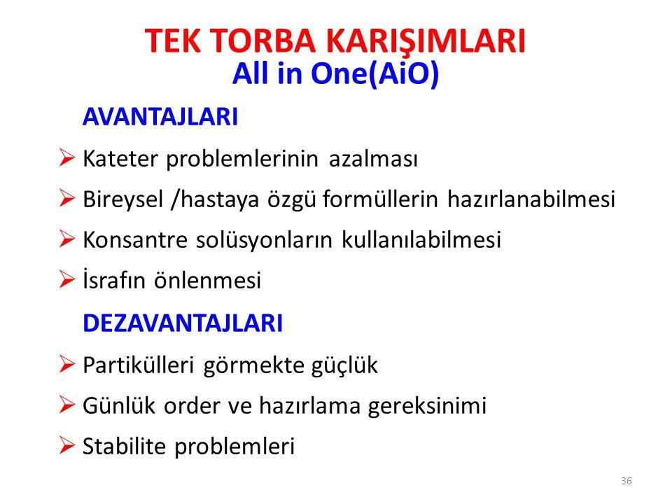 TEK TORBA KARIŞIMLARI All in One(AiO)
