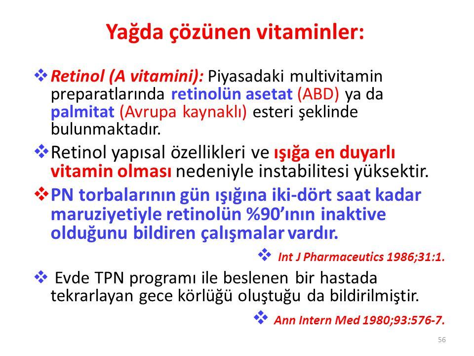 Yağda çözünen vitaminler: