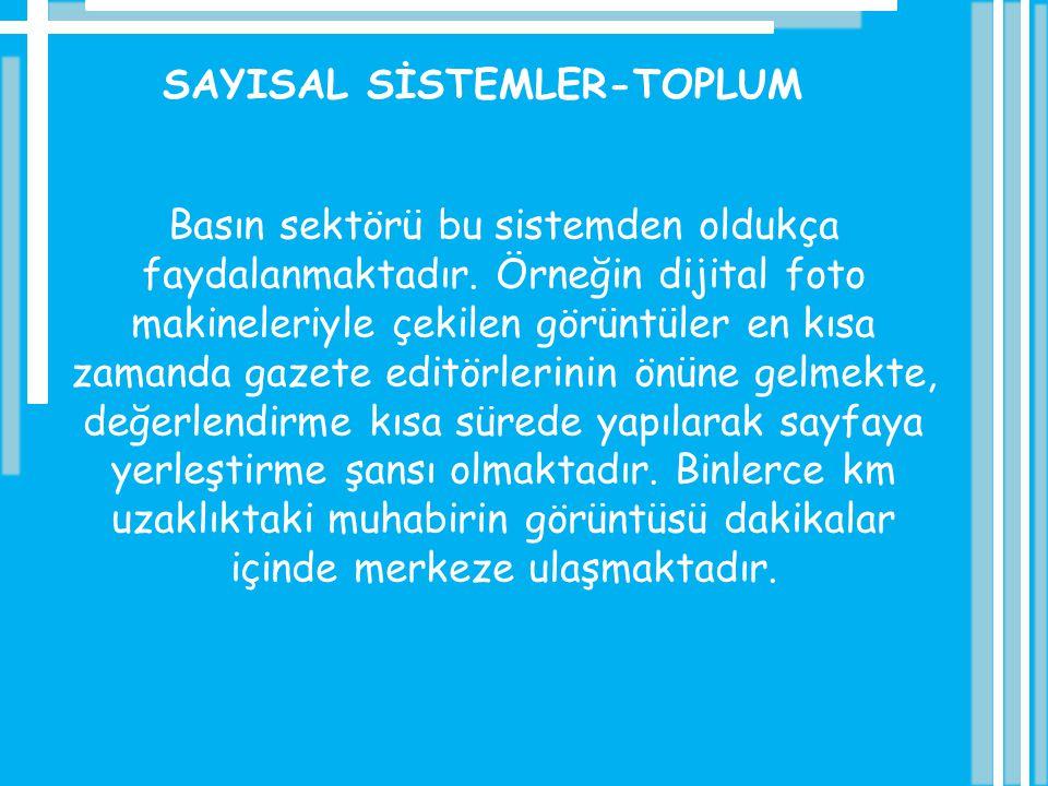 SAYISAL SİSTEMLER-TOPLUM