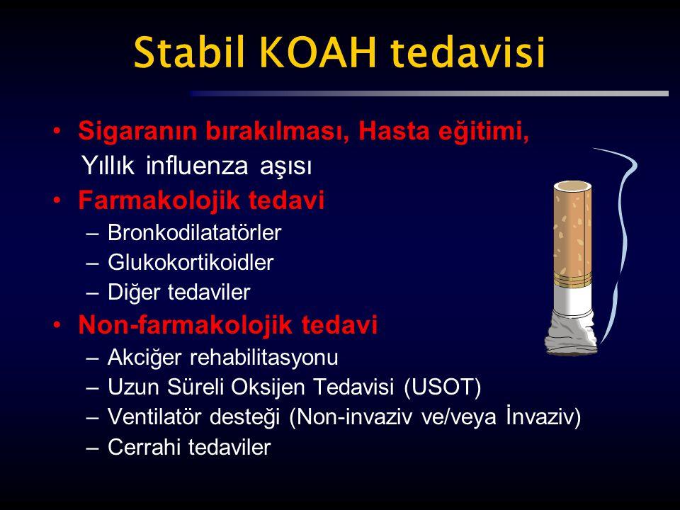 Stabil KOAH tedavisi Sigaranın bırakılması, Hasta eğitimi,